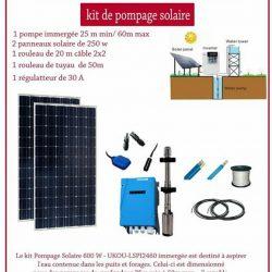 KIT DE POMPAGE SOLAIRE BTC