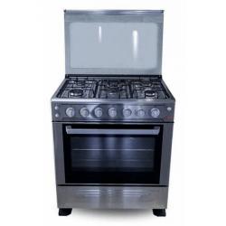 Cuisinière ASTECH 5 feux 80 X 60 INOX 80 MIS